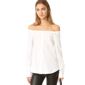 Theory Auriana Off the Shoulder Top size S NWT